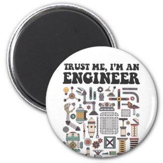 Vertrauen Sie mir, ich sind ein Ingenieur Runder Magnet 5,7 Cm