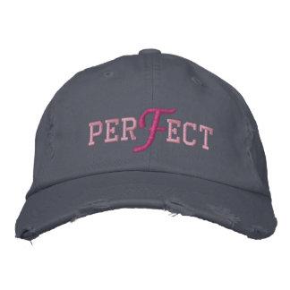 Vervollkommnen Sie - gestickte Kappe Bestickte Baseballmütze