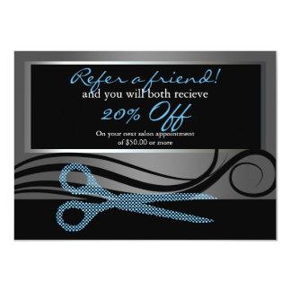 Verweisen Sie Wirbel eines eleganten Haares des 11,4 X 15,9 Cm Einladungskarte