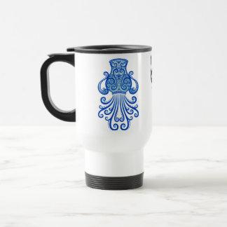 Verwickelter blauer Stammes- Wassermann Edelstahl Thermotasse