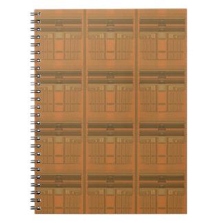 Verwickelter orange Deko-geometrisches gewundenes Notizbuch
