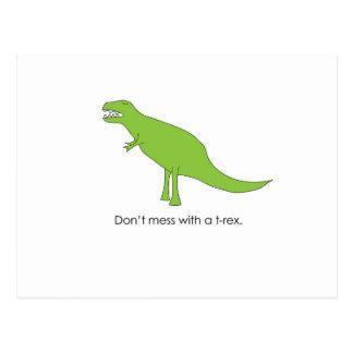 Verwirren Sie nicht mit einem T-rex lustigen Dino Postkarten