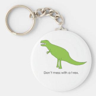 Verwirren Sie nicht mit einem T-rex lustigen Dino Schlüsselanhänger