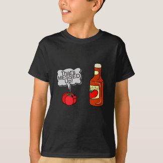 Verwirrter oben Ketschup T-Shirt