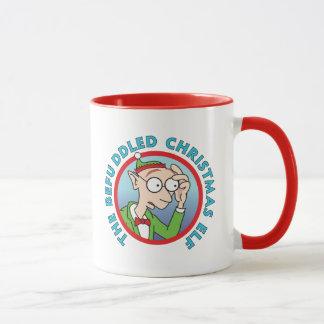 Verwirrter Weihnachtself Tasse
