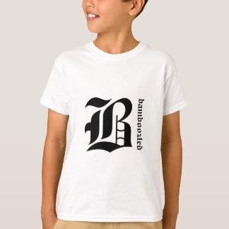 Verwirrtes Kinderbaumwollt-shirt Gelb/Schwarzes T-Shirt