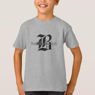 Verwirrtes Kinderbaumwollt-shirt Weiß/Schwarz-Grau T-Shirt