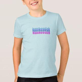 Verwirrtes Mädchen-Baumwollt-shirt Lt.Blue T-Shirt