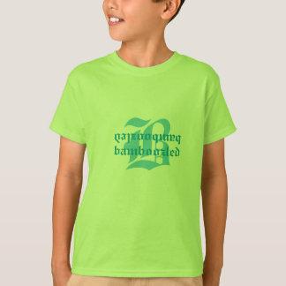 Verwirrtes Mädchen-Baumwollt-shirt lt Green T-Shirt