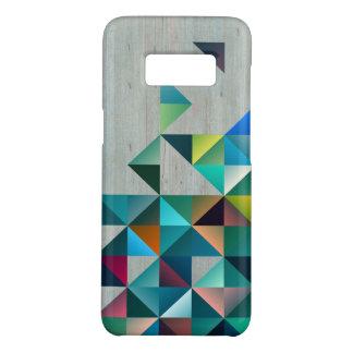 Verwitterte blonde hölzerne WithColorful Dreiecke Case-Mate Samsung Galaxy S8 Hülle
