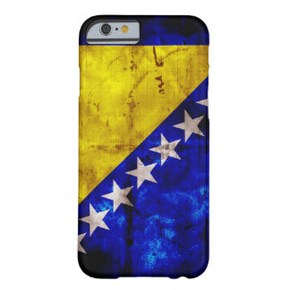 Verwitterte Bosnien-Flagge Barely There iPhone 6 Hülle