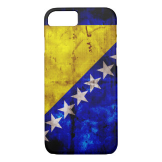 Verwitterte Bosnien-Flagge iPhone 7 Hülle