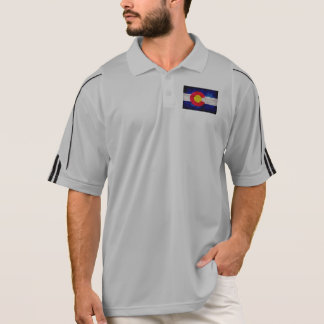 Verwitterte Vintage Colorado-Staats-Flagge Polo Shirt