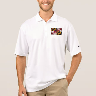 Verwitterte Vintage Maryland-Staats-Flagge Polo Shirt