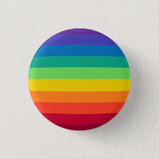 verworfener Regenbogen Runder Button 3,2 Cm