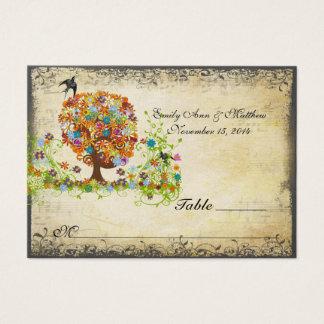 Verzauberte Waldseitenniederlassungs-Hochzeit Visitenkarte