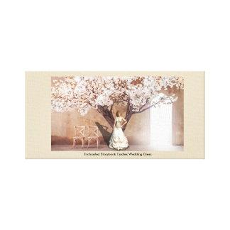 Verzauberter Storybook zieht sich Hochzeits-Kleid Gespannte Galeriedrucke