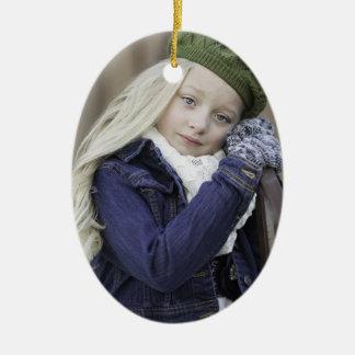 Verzaubertes Jahreszeit-Feiertags-Foto-Jahr Keramik Ornament
