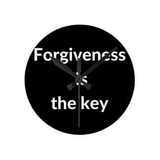 Verzeihen ist der Schlüssel Runde Wanduhr