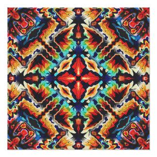 Verzierte geometrische Farben Poster