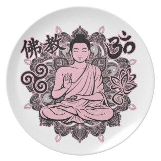 Verzierter Buddha Melaminteller