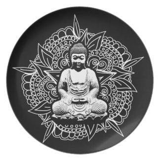 Verzierter Buddha Teller
