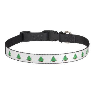 Verzierter Weihnachtsbaum-Cartoon Hundehalsbänder