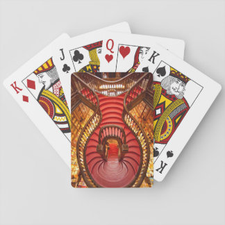 Verziertes rotes Treppenhaus, Portugal Spielkarten