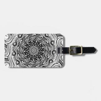 Verziertes Zen-Gekritzel-optische Illusion Gepäckanhänger