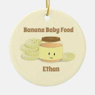 Verzierung des Bananen-Säuglingsnahrungs-Cartoon-| Keramik Ornament