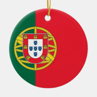 Verzierung mit Flagge von Portugal Rundes Keramik Ornament
