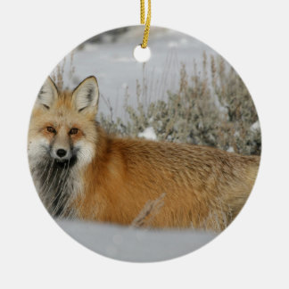Verzierungen des roten Fuchses Keramik Ornament