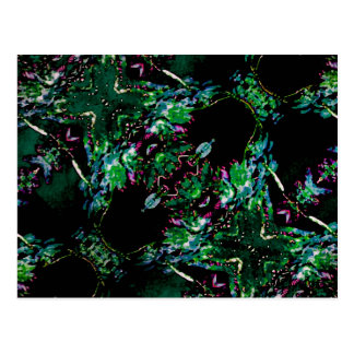 Verzierungs-Dunkelheits-Muster Postkarte