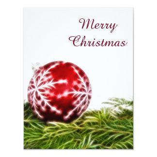 Verzierungs-und Tannen-Fraktal - frohe Weihnachten 10,8 X 14 Cm Einladungskarte