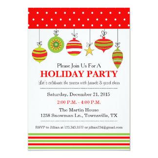Verzierungs-Weihnachten oder Feiertags-Party 12,7 X 17,8 Cm Einladungskarte