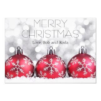 Verzierungs-Weihnachtskarte 12,7 X 17,8 Cm Einladungskarte
