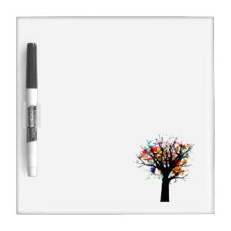 Verzweigter Baumentwurf des Aquarells Whiteboard