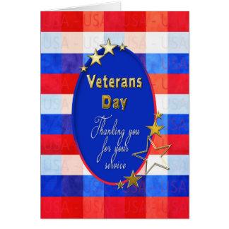 Veteranen-Tagesgruß - amerikanische Helder - Karte