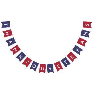 Veteranen-Tagestypographie-Flagge-Farben Wimpelketten