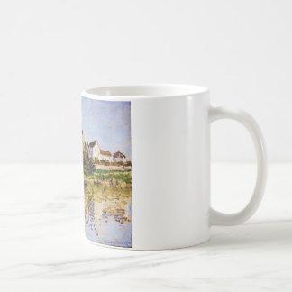 Vetheuil, die Kirche durch Claude Monet Tasse