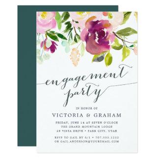 Vibrierende Blüten-Verlobungs-Party Einladung