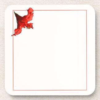 Vibrierende Hibiskus-Blume Untersetzer