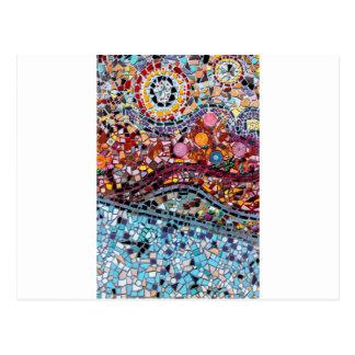 Vibrierende Mosaik-Wand-Kunst Postkarte