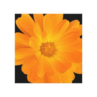 Vibrierende orange Dahlie-Leinwand-Wand-Kunst Leinwanddruck