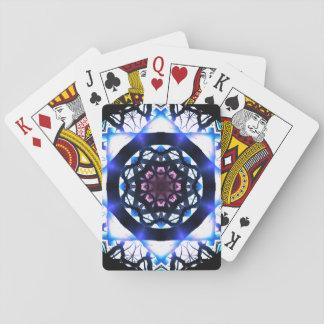 Vibrierende Stern-Licht-Mandala Spielkarten