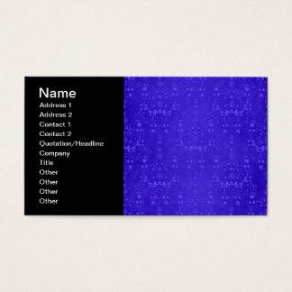 Vibrierendes Kobalt-Blau-extravagantes Visitenkarte