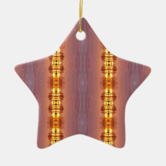 Vibrierendes mehrfarbiges künstlerisches Muster Keramik Ornament