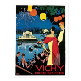 Vichy Vintages Franzose-Reise-Plakat Postkarte