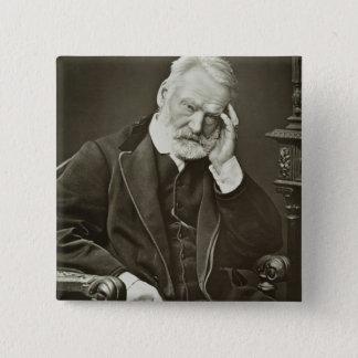 Victor Hugo (1802-85), von 'Galerie Contemporaine Quadratischer Button 5,1 Cm