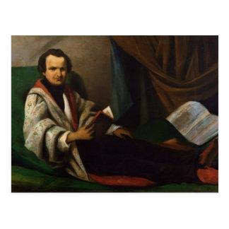 Victor Hugo auf seinem Diwan, c.1830-40 Postkarte